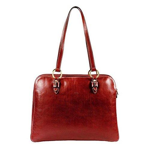 Sac shopping Katana en cuir de Vachette gras K 32596 Rouge