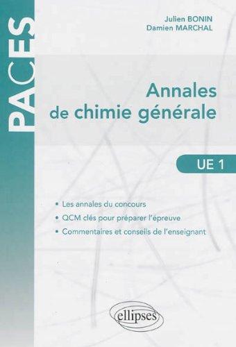 Annales de Chimie Gnrale UE1