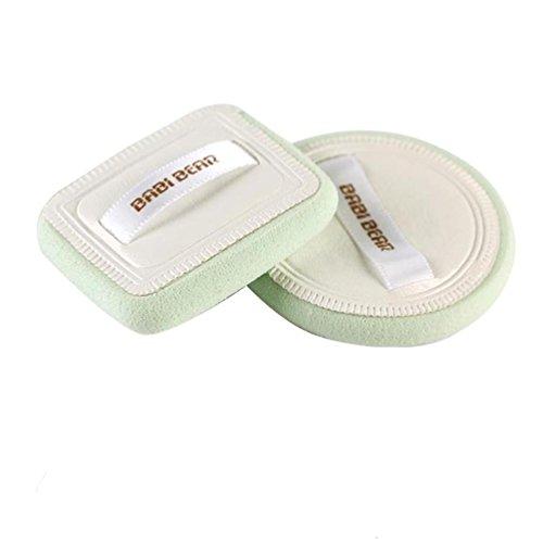 Esponjas, Challeng 1Set soplo de maquillaje de limpieza suave Soplo de polvo de maquillaje facial Facial (blanco)