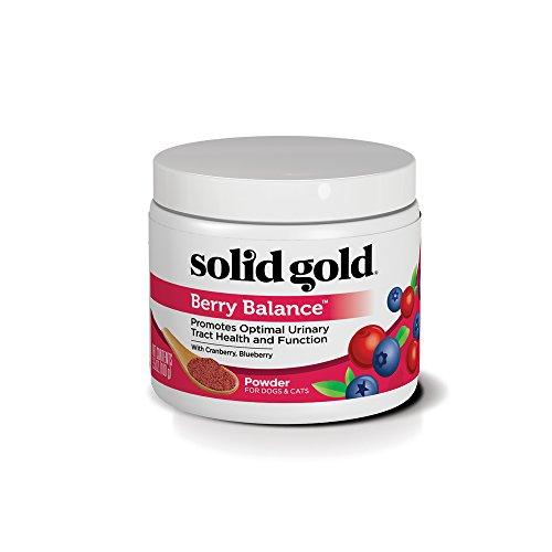 Solid Gold Perro y Gato Suplementos para la Salud del tracto urinario y Pruebas; Berry Equilibrio masticables y en Polvo Rico en antioxidantes de los arándanos Tiras Plus Ph 3,5 oz