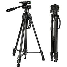 K&F Concept - Trípode para Cámara Reflex TL2023, Trípode Viaje con Cabeza de Bola Trípode Completo para Canon Nikon Sony Fujifilm DSLR Cámaras , Altura: 58/152cm; Carga: