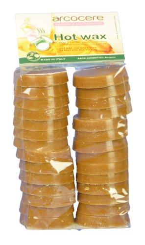 Wachstaler für Brazilian Waxing Haarentfernung zum erwärmen im Wachstopf - 1 KG Profi Packung von Arcocere (Honig)