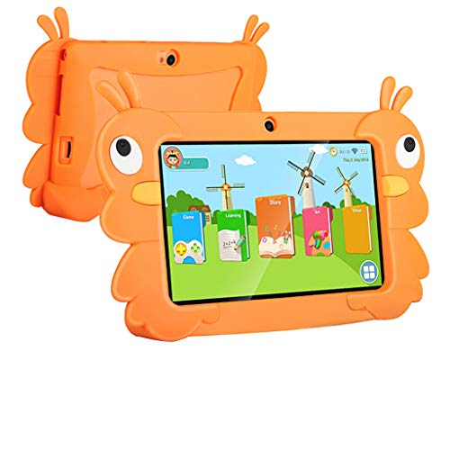 Skryo_ Electronics & Gadgets Skryo Tablet PC für Kinder Android 6.0 16 GB 7 Zoll IPS Bluetooth WiFi Bundle Case (Orange) (Tablet Orange Cases 7)