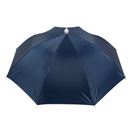 sourcingmap-black-elastic-headband-hands-free-polyester-shell-fishing-umbrella-hat-nave-blue