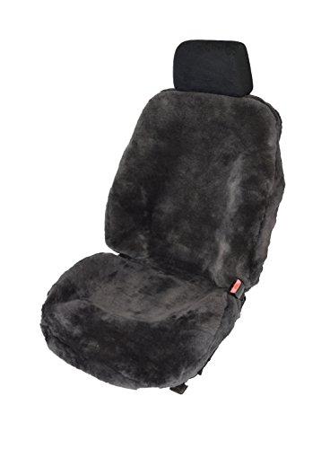 Leibersperger Felle Autoschonbezug Autositzbezug Autofell Fahrersitz komplett aus echtem Lammfell - Farbe Schiefer
