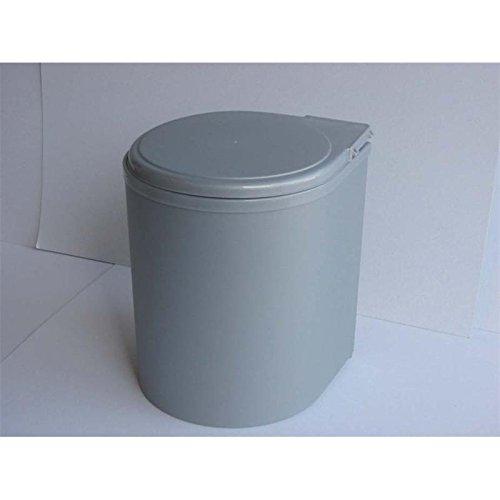 Hochwertiger Einbau Abfallsammler Wesco silber grau 13 Liter rund ausschwenken an Drehtüren Küche Mülleimer