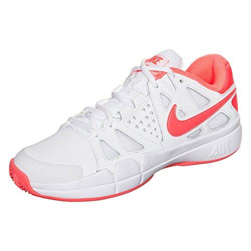 Nike W Air Vapor Advantage Cly, Scarpe da Tennis Donna, 40.5 EU Bianco (Blanco (White / Bright Mango-Atomic Pink))