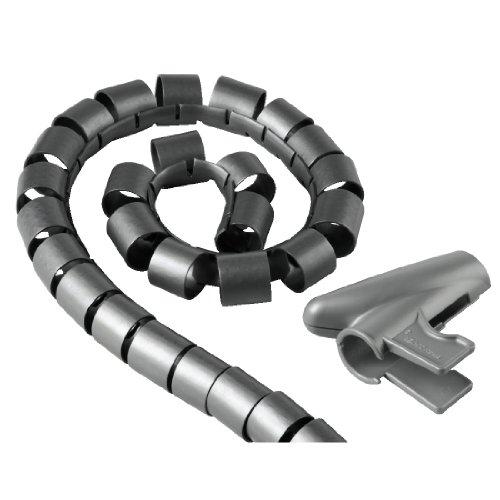"""Hama Kabelschlauch \""""Easy Cover\"""" (flexibler Kabelkanal mit Einfädelhilfe, Länge 2,5 m , Spiralschlauch Durchmesser 20 mm) silber"""