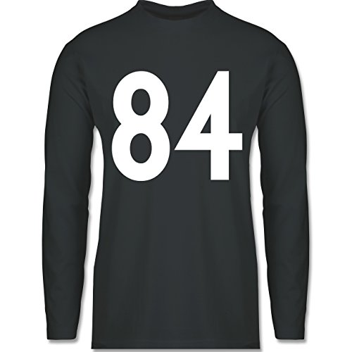 Shirtracer American Football - Football Pittsburgh 84 - Herren Langarmshirt Dunkelgrau