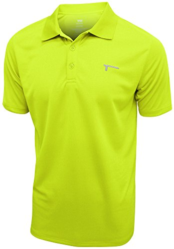 TREN Herren Polyester Performance Polo Shirt Funktionspolo Limegrün 370 - XL