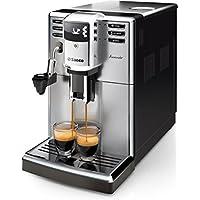 Saeco HD8914/01 Incanto Machine à Café Automatique Inox/Noir, Ecran LCD, Système de détartrage, Mousseur de lait automatique