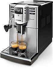 Saeco HD8914/01 Incanto Kaffeevollautomat, AquaClean, automatischer Milchaufschäumer, silber