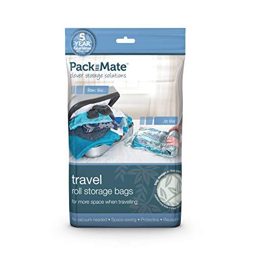 Packmate  8 Sacchetti Sottovuoto Salva Spazio da Viaggio per Biancheria, Perfetti per le Vacanze, per Bagagli Grandi e Zaini