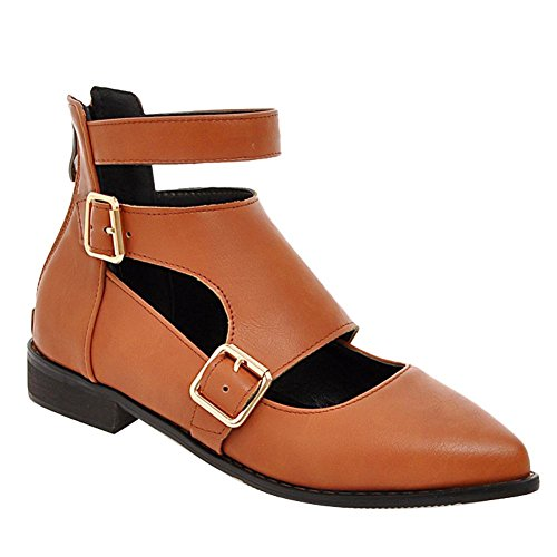 Mee Pumps Mee heels chunky Shoes Gelbbraun Rei脽verschluss Niedrig Shoes Damen 54cHqc8
