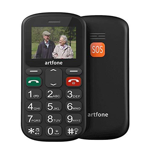 artfone Seniorenhandy ohne Vertrag | Dual SIM Handy mit Notruftaste | Rentner Handy große Tasten | GSM Handy | Großtastenhandy (CS181) Gsm-sim-handy