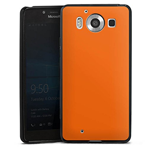 Microsoft Lumia 950 Hülle Silikon Case Schutz Cover Mandarinen Farbe Orange
