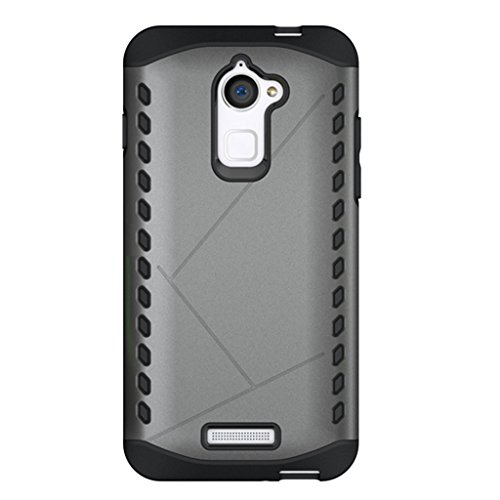 Shopizone® Dual Layer Hybrid Armor Case Protective Cover For Coolpad Note 3 Lite (Grey)