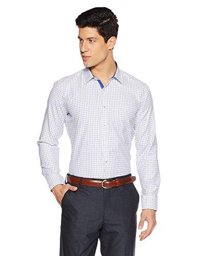 Symbol Amazon Brand Men's Slim Fit Formal Shirt (AW17MFS91_42_Blue)