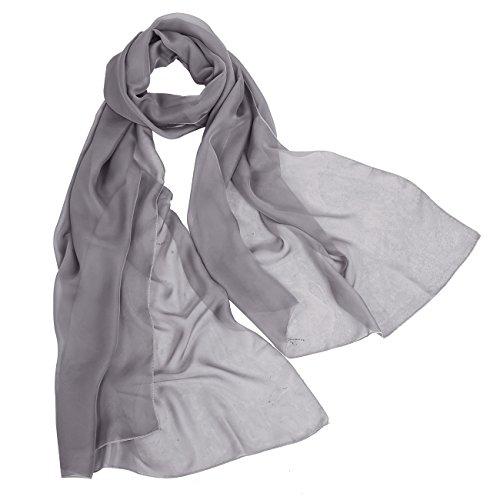 Bbonlinedress Schal Chiffon Stola Scarves in verschiedenen Farben Grey 190cmX70cm