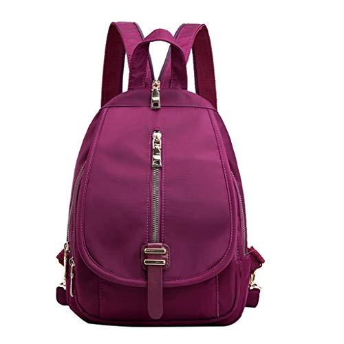 Tigivemen Rucksack für College, Freizeit, Reisetasche, Damen Oxford Briefrucksack, Outdoor Reise Paket Student Schultertaschen -