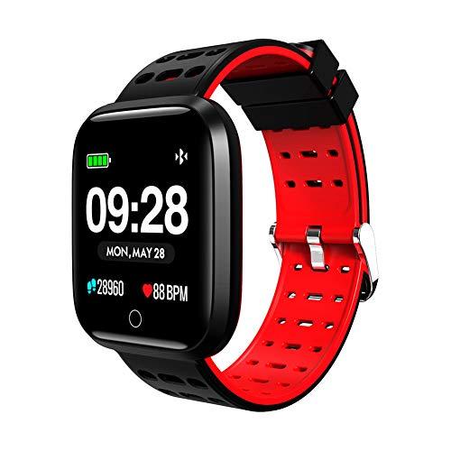 10df1cf0043f Denret3rgu Lemfo Q8 Relojes Inteligentes Impermeable Ritmo cardíaco  Gimnasio Rastreador Pulsera Deportes Pulsera Inteligente - Rojo