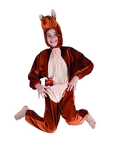 Kostum Kanguru Kinder Pluschkostum Jumpsuit Tier Verkleidung