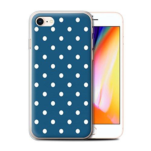 Stuff4 Gel TPU Hülle / Case für Apple iPhone X/10 / Wellenförmige Streifen Muster / Wintermode Kollektion Knickenten-Tupfen