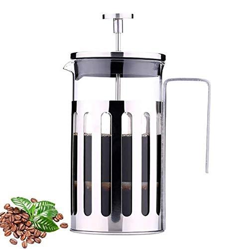 TONGSH French Press Kaffeemaschine und Teepresse, 1000 ml Größe, Pyrex France Borosilikatglasbecher und Premium-Edelstahlfilter sowie verchromte Kaffeepresse