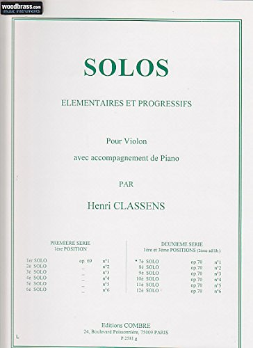 Partitions classique COMBRE CLASSENS HENRI - 7EME SOLO OP.70 N°1 (DEUXIEME SERIE) Violon Pdf - ePub - Audiolivre Telecharger