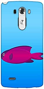 Snoogg A Vector Illustration Of A Pink And Purple Hooded Wrasse Fish On Blue Backg Designer Protective Back Case Cover For LG G3