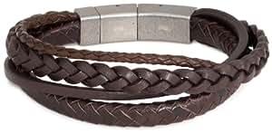 FOSSIL Herren-Armband Leder braun 22.5  cm JF85296040