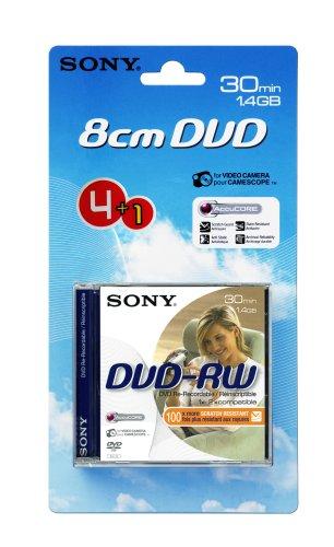 SONY DVD-RW, 1,4 GB 30 min, pack 4 +1, Handycam mini dvd, 1,4 gb,sony dvdrw,4 +1 1,4 Gb Mini-dvd