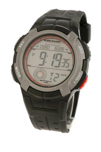 Dunlop DUN-92-G07 Iron - Reloj de caballero de cuarzo, correa de goma color negro