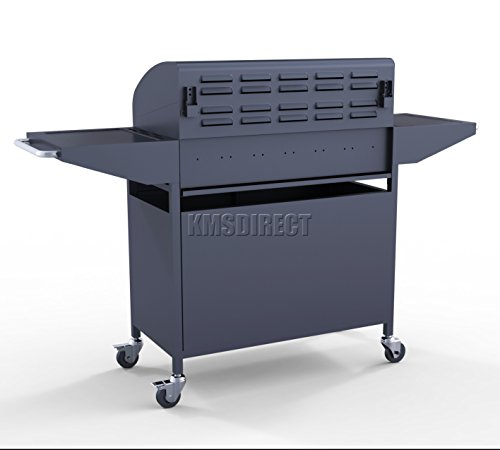 FoxHunter Garden Outdoor Portable BBQ Gas Grill 4 Burner Barbecue Barbeque + 1 Side Burner With Thermometer New G9204A-SB-02 Black