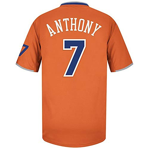 ZAIYI-Jersey Herren Basketballtrikot -Carmelo Anthony- # 7-Knicks - Retro Swingman Jersey Ärmelloses Shirt (Color : M, Size : L) (Anthony Carmelo Jersey)