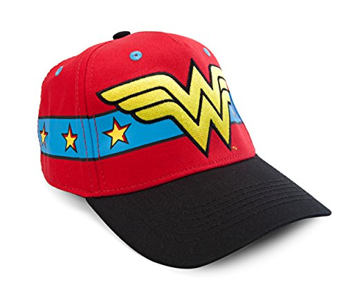 DC Comics Wonder Woman Embroidered Logo Snapback Gorra De Béisbol