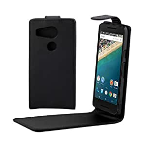 Pour LG Nexus 5X , Leathlux Simple Texture Skin PU Cuir Coque Protecteur Etui Housse Flap Cover Case pour LG Nexus 5X / LG Angler Noir
