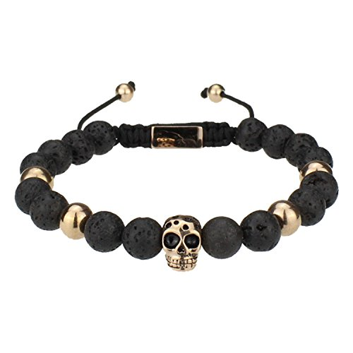 DON STILO ® Shamballa Armband Perlenarmband   Lava Rose Skull