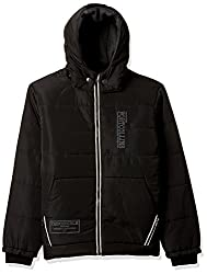 Fort Collins Boys Regular Fit Synthetic Jacket (14617_Black_34 (13 - 14 years))