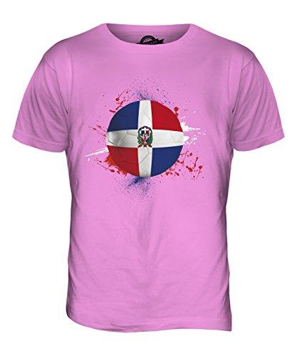 CandyMix Repubblica Dominicana Calcio T-Shirt da Uomo Maglietta Rosa