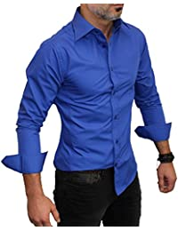 Chemise manches longues unie Coupe slim fit Homme