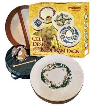 waltons-15-inch-irish-bodhran-gift-set-beater-dvd-tutor-case-chase-bodhran-design