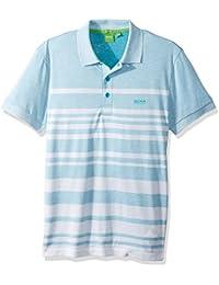 BOSS Green Men's Paule 8 Striped Short Sleeve Polo Shirt