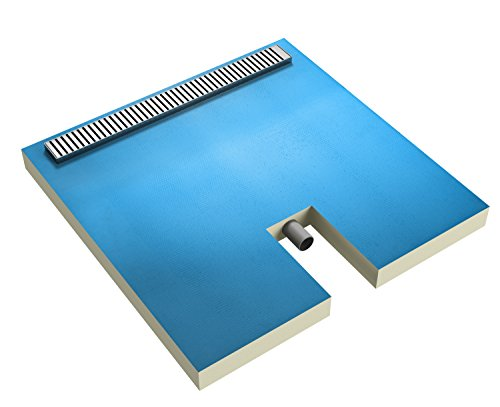 Ultrament Duschboard Rinnenablauf, 900 x 900 x 75mm
