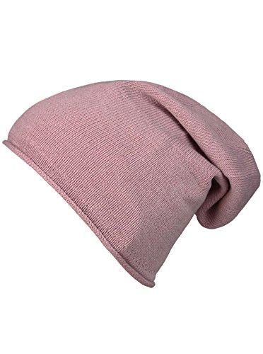 Cashmere Dreams Slouch-Beanie-Mütze mit Kaschmir - Hochwertige Strickmütze für Damen Mädchen Jungen - Hat - Unisex - One Size - warm und weich im Sommer Herbst und Winter Zwillingsherz (alt)