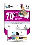 HP Instant Ink enrollment Card Abonnement pour service de livraison à domicile de...