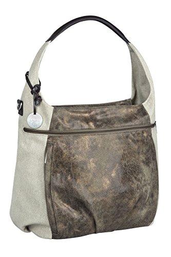 Lässig Casual Hobo Bag Wickeltasche/Babytasche inkl. Wickelzubehör, olive / beige (Hobo-geschenk)