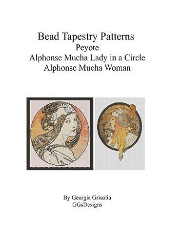 Bead Tapestry Patterns Peyote Alphonse Mucha Lady in a Circle Alphonse Mucha Woman