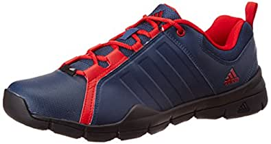 adidas Men's Outrider Blue and Red Mesh Running Shoes - 9 UK