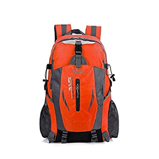 Anano Hiking Backpack 40L Backpack Water Resistant Trekking Rucksack Mountaineering Backpack for Travel Climbing Cycling Running Camping Outdoor Sports (Orange)
